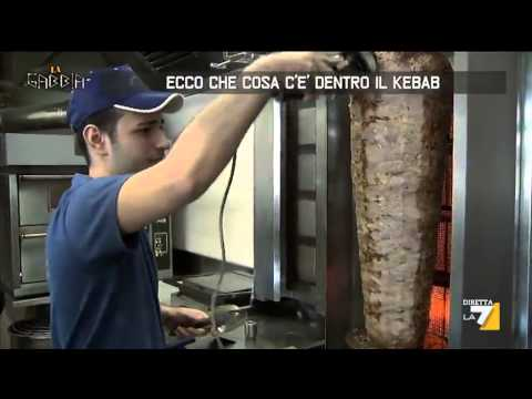 ecco cosa c'è dentro il kebab! video shock!