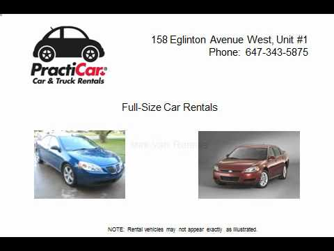 Toronto Car Rentals from PractiCar Systems