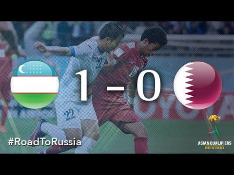 Узбекистан - Катар 1:0. Видеообзор матча 28.03.2017. Видео голов и опасных моментов игры