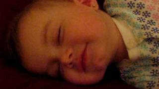 Cutest Baby Laugh Ever!! - Baby laughing in her sleep - Lilah.