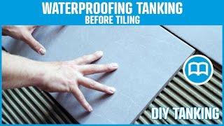Waterproofing under tiles bathrooms terraces swimming pool shower floor