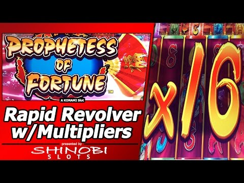 Prophetess of Fortune Slot - New Rapid Revolver Konami game with Multipliers
