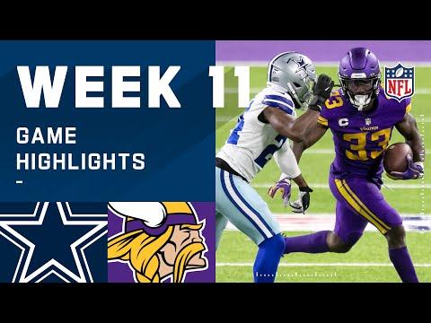 Cowboys vs. Vikings Week 11 Highlights | NFL 2020
