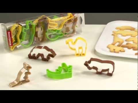 Видео Формочки для печенья из пластмассы Tescoma Формочки ZOO DELICIA KIDS, 12 шт. Tescoma 630930