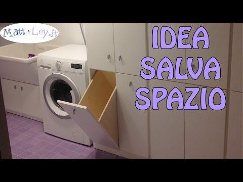 Mobile lavanderia fai da te- Idea salva spazio