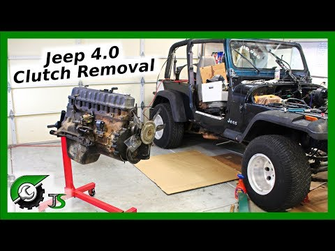 Jeep Clutch Removal:  4.0L Straight 6 Engine