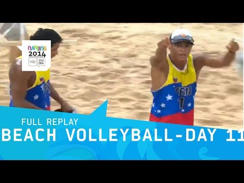 Beach Volleyball - Day 11 Semi-Finals Men | Full Replay | Nanjing 2014 Youth Olympics