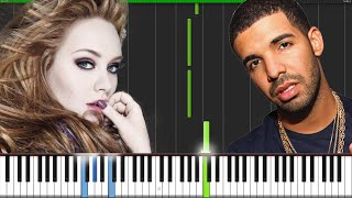 Hello & Hotline Bling - Adele & Drake [Piano Tutorial]