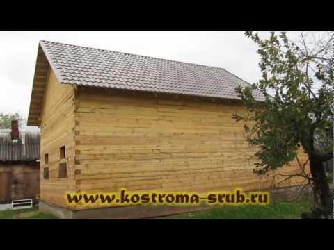 Дом из бруса с пристройкой