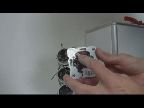 Anleitung Serienschalter einbauen – Doppelschalter anschließen / Elektroinstallation Lichtschalter