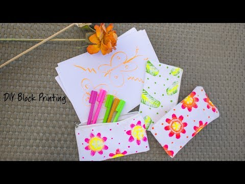 DIY Fabric Block Printing
