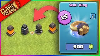 BUYING 5 WALL RINGS.. ▶️ Clash Of Clans ◀️ WORST. IDEA. EVER.
