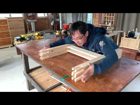 [Woodworking] Making A Simple Style Desk (No Screw) / DIY Desk