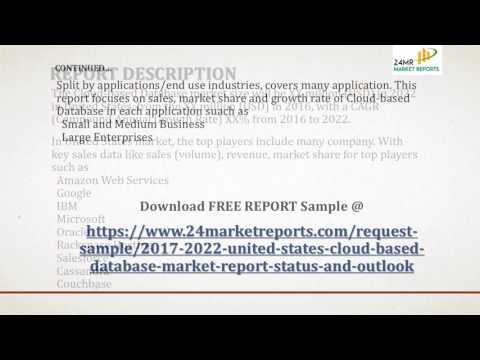 2017 2022 United States Cloud based Database Market Report