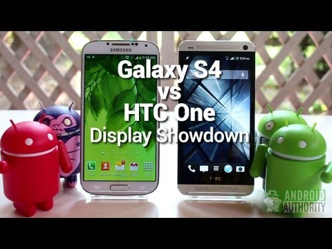 HTC One display vs Galaxy S4 display in depth review