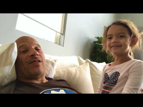 Vin Diesel  Live Video Home With Little Star
