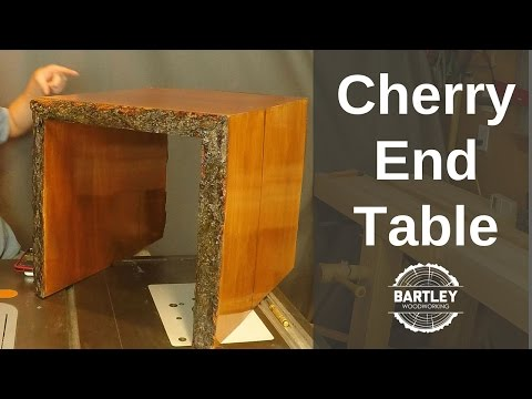 DIY Cherry Slab End Table (видео)