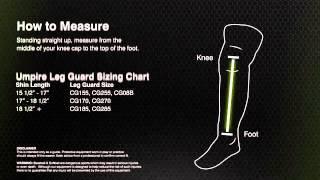 Champro Sports Size Guide Umpire Leg Guards