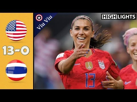 Usa Vs Thailand 13-0 All Goals & Highlights | 2019 Wwc