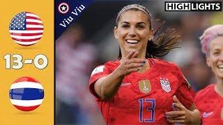 Video USA vs Thailand 13-0 All Goals & Highlights   2019 WWC MP3, 3GP, MP4, WEBM, AVI, FLV Juli 2019