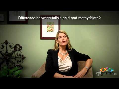 Difference between folinic acid and methylation.