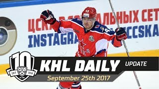 Daily KHL Update - September 25th, 2017 (English)