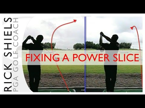 FIXING A POWER GOLF SLICE