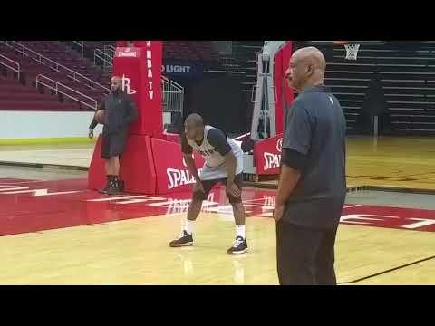 Chris Paul's first practice as a Houston Rocket