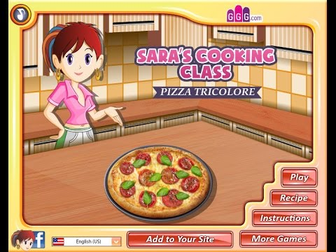 Sara's Cooking Class Pizza Video Game How To PLay