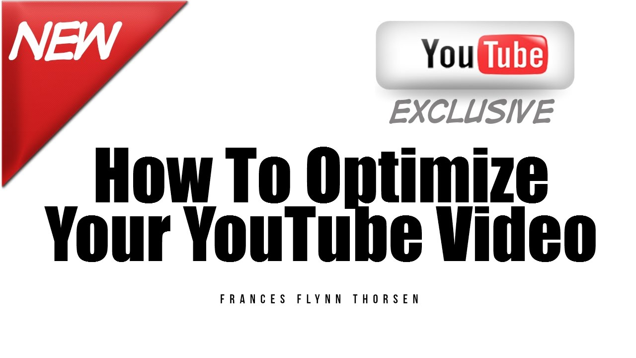 How To Optimize A YouTube Video | YouTube Video Checklist
