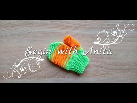 tutorial 92- Baby gloves knitting/ 1-2yrs kids gloves knitting.