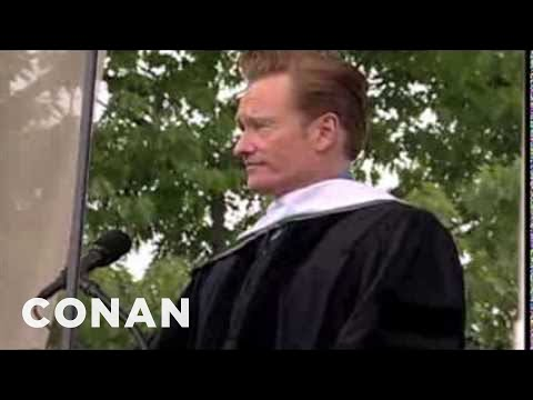 Obrien - Conan has some encouraging words for the 2011 Dartmouth College senior class on the day of their graduation. Visit http://teamcoco.com for more Conan.