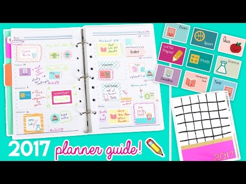 2017 Planner Guide!! DIY Stickers, Covers, and Organizational Tips! ✏️💖