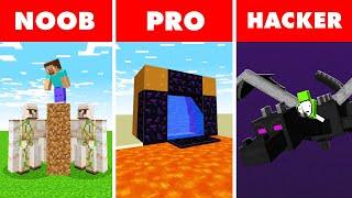 Minecraft NOOB vs. PRO vs. HACKER : SPEED RUNNING CHALLENGE in Minecraft!