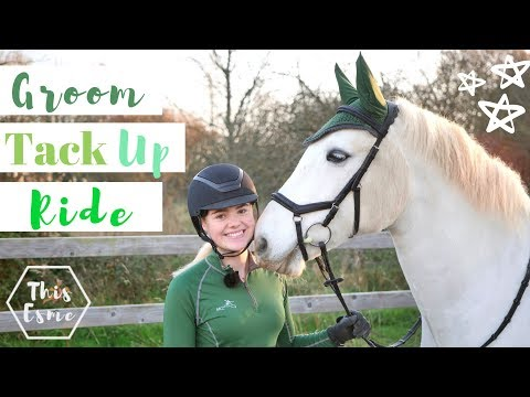 Groom Tack Up + Ride with me | Winter Jumping | This Esme