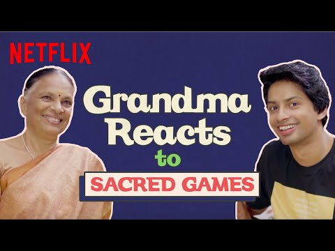 Indian Grandma Reacts To Sacred Games | Netflix