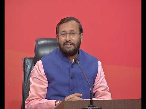 Press Conference by Shri Prakash Javadekar at BJP Centrel Office, New Delhi : 11.02.2017