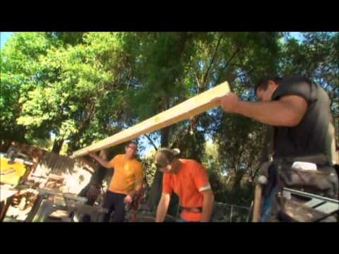 Installing Faux Beams – House Crashers Episode