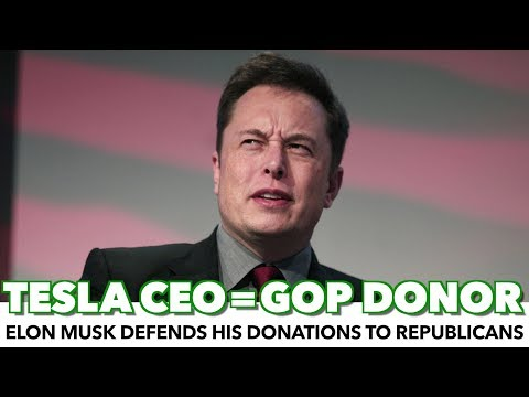 Tesla Founder Elon Musk Revealed As Republican Donor