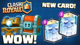 NEW LEGENDARY APPEARED ROYAL GHOST :: Clash Royale :: CLAN CHEST AND GIANT CHEST OPENING!
