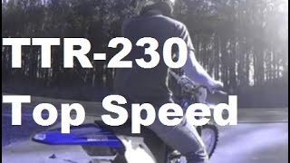 9. TTR 230 Top Speed Using *GPS*