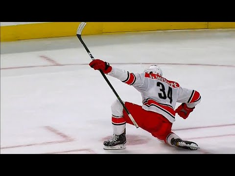 Hurricanes' Di Giuseppe scores a beauty in shootout, gets teammate Ward 300th NHL win