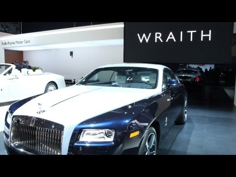 Wraith - Rolls Royce rolled out their most powerful car in history,the Wraith. With a V12 Engine you can go from 0-62 in just 4.6 seconds. The frameless coach doors o...