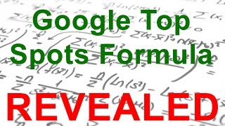 Nov 19, 2016 ... SEO Firm Reveals Formula For Top Spots & everything you need to ... SEO nExpert Leaks His Formula To Be #1 On Google (and MUCH more!)