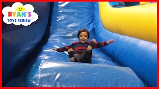 Video Indoor Playground for Kids Pump It Up Bounce House and Obstacle Course! Children Play Center MP3, 3GP, MP4, WEBM, AVI, FLV April 2017