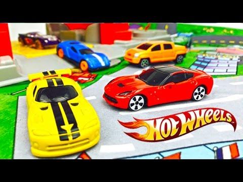 Carros de Carrera Hot Wheels - Autos de Colores para Niños - Videos Infantiles