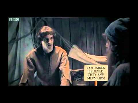 Columbus - Christopher Columbus discovers the Caribbean islands in 1492, but he was a little confused. From Horrible Histories (Series 4, Episode 6). (C) Lion Televisio...