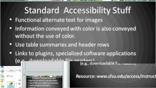 Accessibility and Course Design Consideration for Instructors