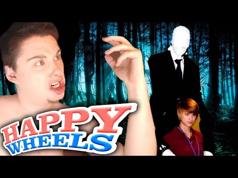 HAPPY WHEELS: SLENDERMAN Y JUSTIN BIEBER