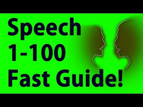 how to get speech to 100 after patch